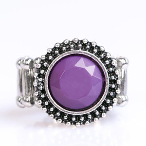 Vintage Paparazzi Purple Stretchy Band Ring